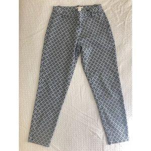 H&M Blue Print Ankle Dress Pants